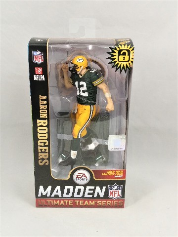 Aaron Rodgers Variant McFarlane Madden NFL 19 Ultimate Team Series 1 NEW