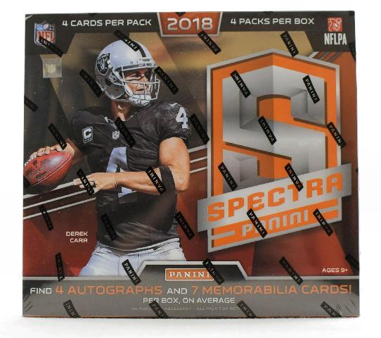 2018 Panini Spectra Football Hobby 4 Pack BOX (Sealed)