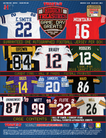2018 Tristar Hidden Treasures Game Day Great Football Jersey Box (Sealed)