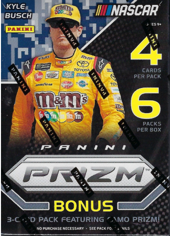 2018 Panini Prizm NASCAR Auto Racing 6 Pack Blaster Box (Sealed) Bonus Camo Pack