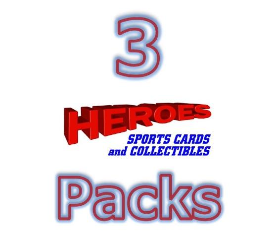 Three (3) 2019 Topps Heritage Baseball Hobby 9 Card PACKS (Sealed)(Random)