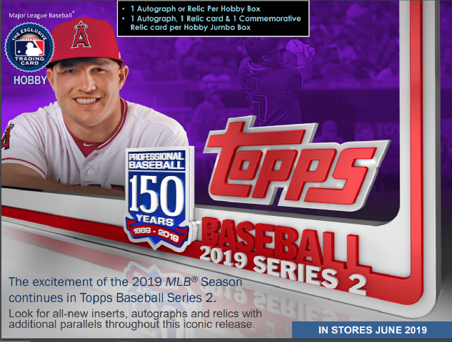 2019 Topps Series 2 Baseball Hobby 12 Box CASE w/12 Silver Packs (Sealed)