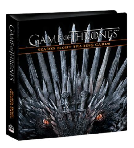 2020 Rittenhouse Game of Thrones Season 8 BINDER w/ P2 Promo Trading Card