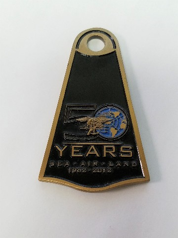 US Navy SEALS 50 Years Protecting America 1962-2012 Sea Air Land Challenge Coin