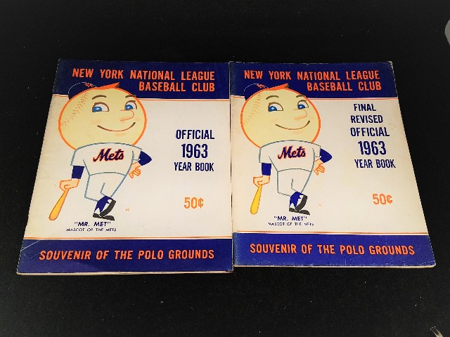 Lot Of 2 1963 New York Mets National League Baseball Club Official Yearbook