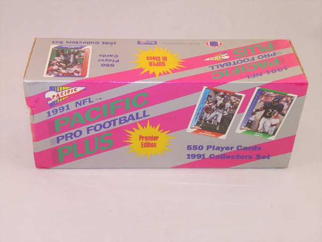 1991 Pacific Pro Football Plus Factory Set Sealed Premier Edition 550 Cards