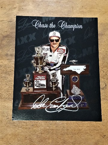 1995 Maxx Chase the Champion #5 Dale Earnhardt Jumbo 8x10 Card