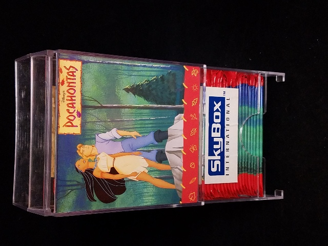 1995 Skybox Disney Pocahontas Gravity Feed Display Stand With 45 Card Packs