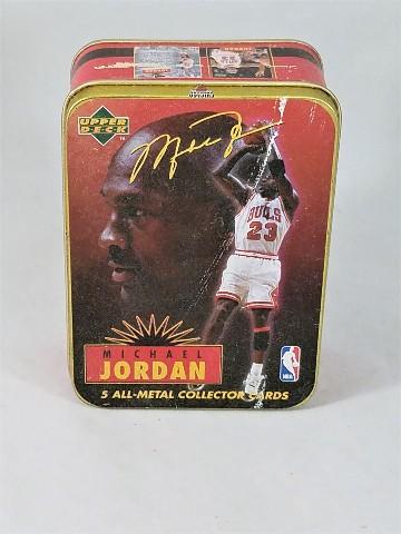 1996 Upper Deck Michael Jordan Metal Tin Set Of 5 Metal Cards
