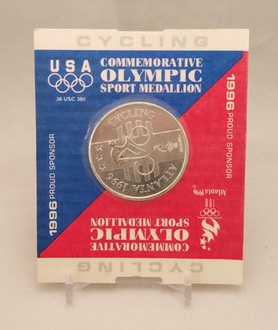 1996 Atlanta Olympics Commemorative Sport Medallion Coin - Cycling -NOS NIP