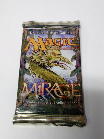 1996 Magic the Gathering MTG Mirage Booster Pack French Language Sealed