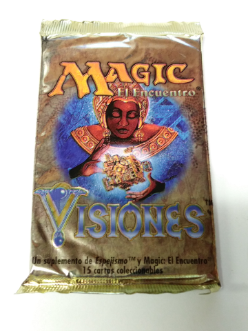 1996 Magic the Gathering MTG Mirage Visions Booster Pack Spanish Sealed Visiones