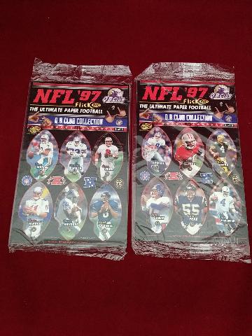 1997 NFL 97 Flick Ball QB Club Collection Set of 2 NIP Aikman Rice Favre Elway