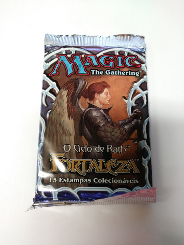 1997 Magic the Gathering MTG Stronghold Booster Pack Portuguese Fortaleza Sealed