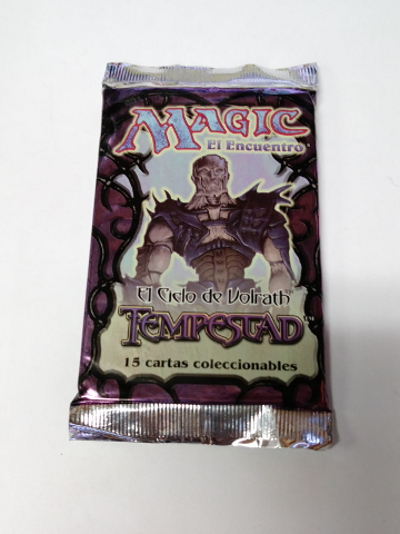 1997 Magic the Gathering MTG Rath Cycle Tempest Booster Pack Spanish Tempestad