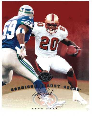 1997 Leaf Authentic Signatures 8x10 Card Garrison Hearst 49ers Auto