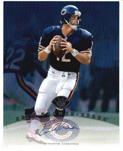 1997 Leaf Authentic Signatures 8x10 Card Erik Kramer Chicago Bears Auto