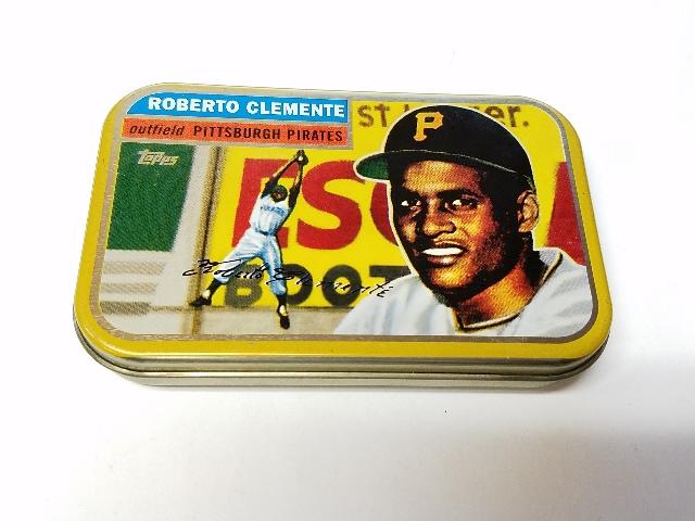 1998 Topps Roberto Clemente Commemorative Tin Empty Pittsburgh Pirates
