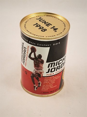 1998 Upper Deck Michael Jordan NBA Finals Shots Unopened Can #2 of 6