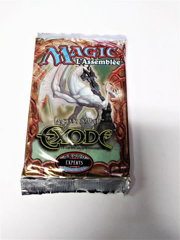 1998 Magic the Gathering MTG Exodus Expert Booster Pack French Exode Sealed