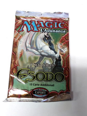 1998 Magic the Gathering MTG Exodus Expert Booster Pack Italian Esodo Sealed