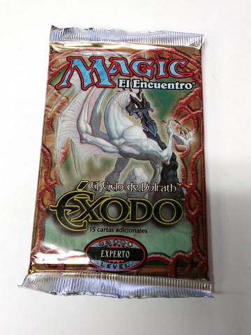 1998 Magic the Gathering MTG Exodus Expert Booster Pack Spanish Exodo Sealed