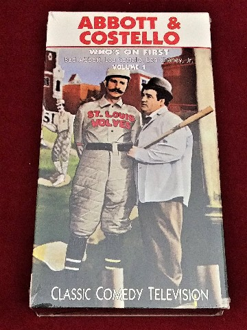 Abbott Costello Whos On First B W VHS 1990 Classic Comedy TV Baseball NEW