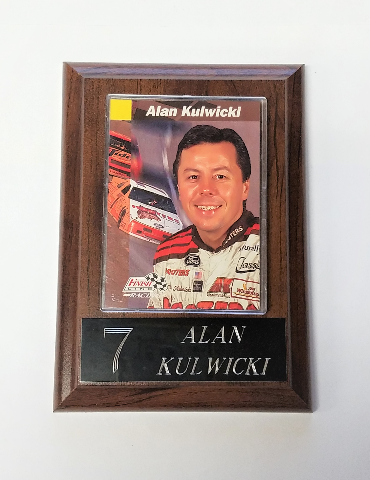 1993 Finish Line Racing #76 Alan Kulwicki Card On 4x6 Plaque