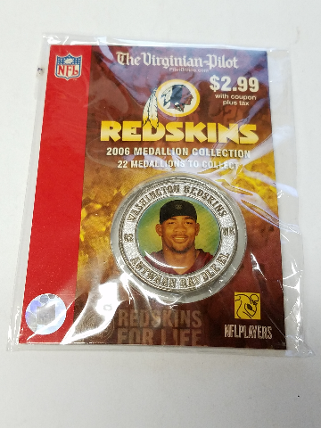 2006 ANTWAAN RANDLE EL Washington Redskins For Life Collectible Medallion Coin