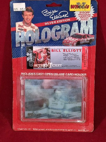 1992 BILL ELLIOTT Wheels Racing Silver Edition Hologram Card W/ AuthenTicket