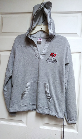 NFL For Her Gray Tampa Bay Buccaneers Pullover Hoodie Size M Medium Football