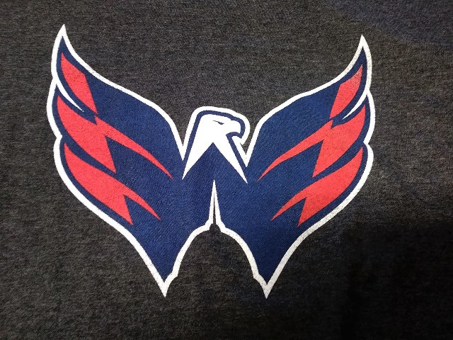 Old Time Hockey Heathered Black Washington Capitals Graphic T-Shirt Size XL NHL