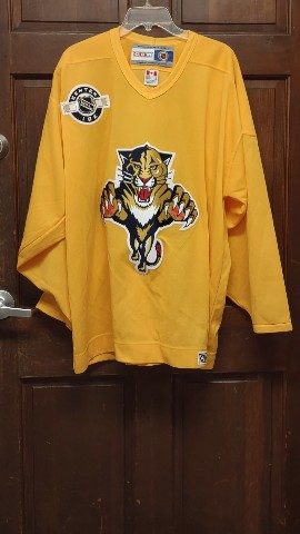 CCM Center Ice FLORIDA PANTHERS XL Practice Jersey BUD LIGHT Party Zone FOXNet