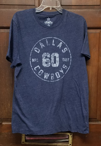 Dallas Cowboys Authentic Heathered Dark Blue T-Shirt Men's Size L Football