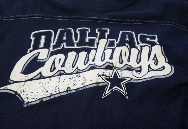 Authentic Apparel Dallas Cowboys Blue Long Sleeve T-Shirt Size L NFL Football
