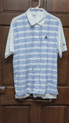 Adidas ClimaCool White & Blue Dallas Cowboys Golf Polo Shirt Men's Size M