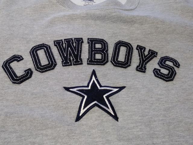 Authentic Apparel Dallas Cowboys Gray Sweatshirt Men's Size L Football NFL