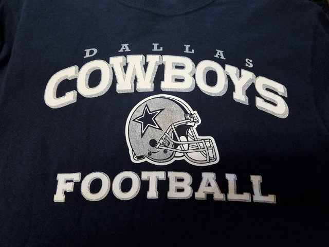 Reebok Navy Blue Dallas Cowboys Short Sleeve T-Shirt Size S Small Football NFL