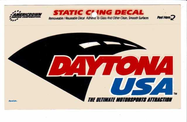 "Americrown DAYTONA USA Static Cling Decal Sticker Racing 4"" x 5"" NASCAR NOS"