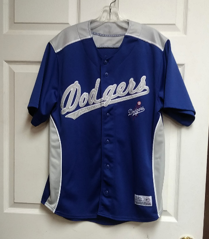 Dynasty Los Angeles Dodgers Jersey Blue & Gray Size M MLB Baseball