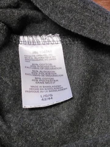Knight s Apparel Charcoal Gray Detroit Red Wings T-Shirt Sz L 42-44 NHL  Hockey 063a20719