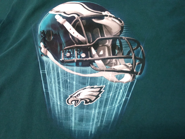 NFL Team Apparel Philadelphia Eagles Teal Graphic T-Shirt Size L Football