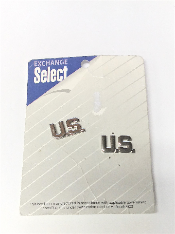 Exchange Select Air Force Collar Device U.S. LETTERS Officer Mirror Finish NOS