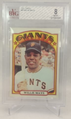 1972 Topps #49 Willie Mays BVG 8 NM-MT SF San Francisco Giants