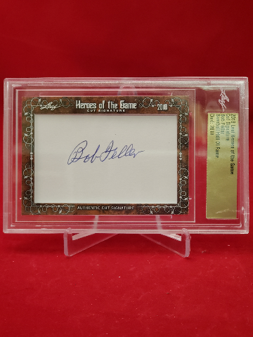 2018 Leaf Heroes Of The Game Cut Signature BOB FELLER  Baseball HOF Auto
