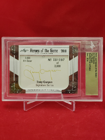 2018 Leaf Heroes Of The Game Cut Signature TONY GWYNN  Baseball HOF AU 1097/3000