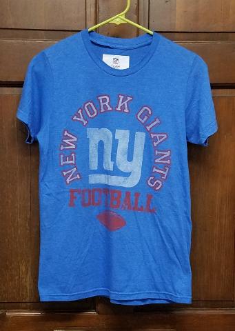 NFL Team Apparel Light Blue New York Giants Football T-Shirt Size S Small