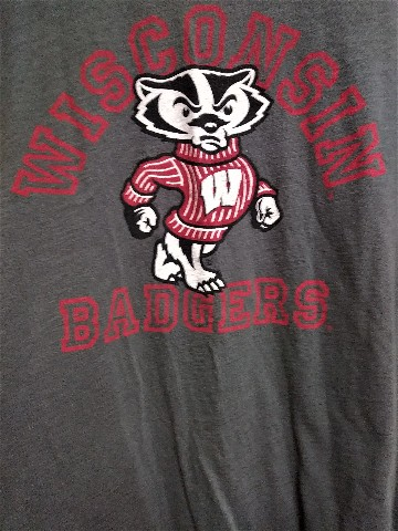 Campus Heritage Collection Dark Gray Wisconsin Badgers T-Shirt Size XL NCAA