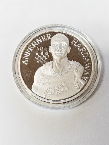 1996 Enivromint Anfernee Hardaway Silver Medallion Olympics USA Dream Team 2