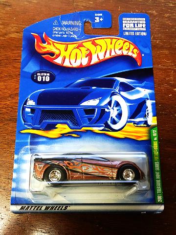 Hot Wheels Treasure Hunt 2001 #10 Pontiac Rageous Real Riders 10/12 Mattel Torn